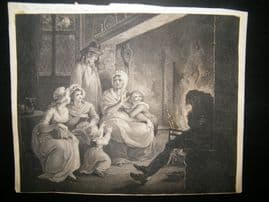 Peltro Tomkins aft. William Hamilton 1793 Stipple & Etching. Genre. Thompson