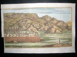 Persia C1750 Antique Hand Col Print. Persepolis
