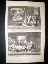 Picart C1730 Folio Antique Print. Banians Ceremonies, India