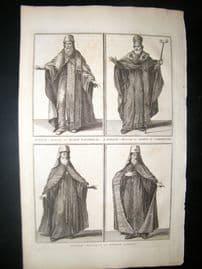 Picart C1730 Folio Antique Print. Moscow Priest Costume, Russia