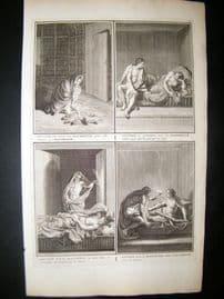 Picart C1730 Folio Antique Print. Native American Indians, Canada