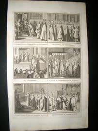 Picart C1730 Folio Antique Print. Religious Catholic 34