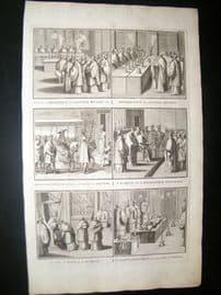 Picart C1730 Folio Antique Print. Religious Catholic 41