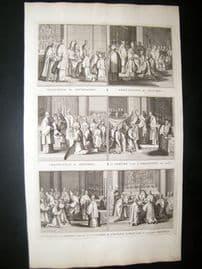 Picart C1730 Folio Antique Print. Religious Catholic 53