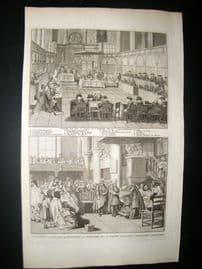 Picart C1730 Folio Antique Print. Religious Catholic Amsterdam Synod