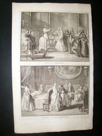 Picart C1730 Folio Antique Print. Religious Catholic Marriage, Benediction