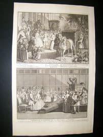 Picart C1730 Folio Antique Print. Religious Protestant Marriage