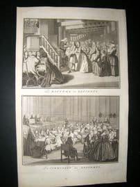 Picart C1730 Folio Antique Print. Religious Protestant Reformers