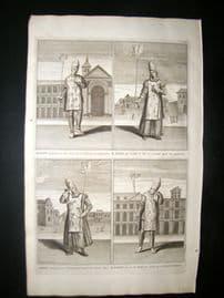 Picart C1730 Folio Antique Print. Religious. Spanish Inquisition