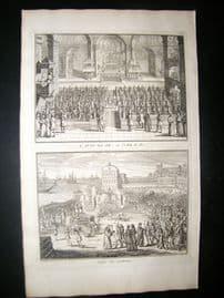 Picart C1730 Folio Antique Print. Religious. The Spanish Inquisition