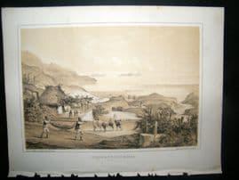 Portugal Madeira Perry Expedition 1856 Antique Print. Loo Rock & Pontinha