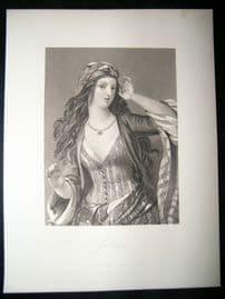 Pretty Lady 1867 Antique Print. Gulnare