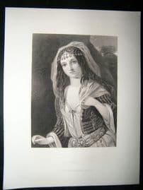 Pretty Lady 1867 Antique Print. Haidee