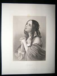 Pretty Lady 1867 Antique Print. Olympia