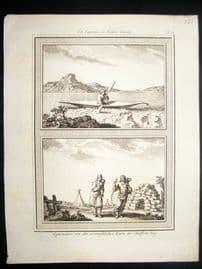 Prevost C1750 Antique Print. Eskimos of Hudson's Bay, Canada