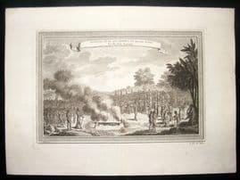 Prevost C1750 Antique Print. Juida, Punishment of Women, West Africa