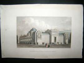 Pugin Paris 1831 Antique Hand Col Print. Chapelle de Louis XVI, France
