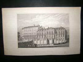 Pugin Paris 1831 Antique Print. Palace de St. Cloud, France