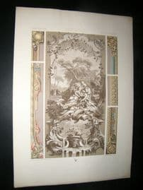 Racinet Ornament 1874 Folio Antiqu Print. 18th Century #1