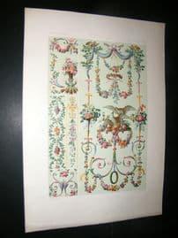 Racinet Ornament 1874 Folio Antiqu Print. 18th Century #3