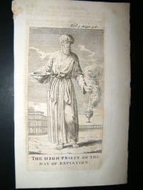 Religious C1750 Antique Print. Judaica. High Priest, Jewish