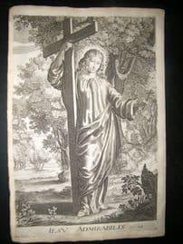 Ribadeneyra 1669 Folio Religious Print. Jesu Admirabilis