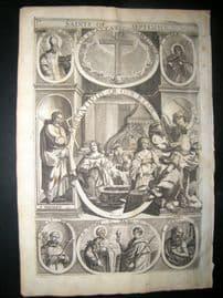 Ribadeneyra 1669 Folio Religious Print. Saints of September