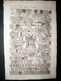 Richard Blome 1686 Folio Antique Print. Heraldry 231