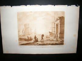 Richard Earlom & Claude Lorrain C1810 Landscape Mezzotint. Liber Veritatis 19