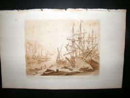 Richard Earlom & Claude Lorrain C1810 Landscape Mezzotint. Ships 30