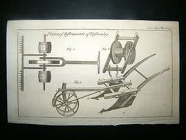 Agriculture: 1773 Various Farming Ploughs.