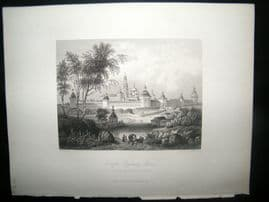 Russia 1847 Antique Print. Troitzko-Sergievsky, Moscow