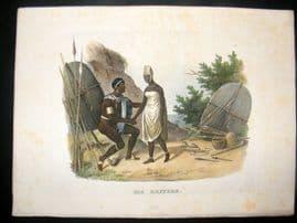 Schinz 1845 Antique Hand Col Print. African Kaffirs 28