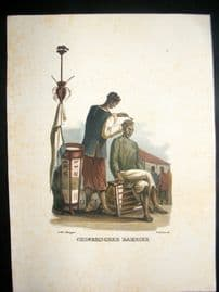 Schinz 1845 Antique Hand Col Print. Chinese Barbar, China 17