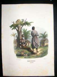 Schinz 1845 Antique Hand Col Print. Indian Fakir 19