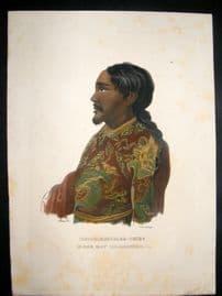 Schinz 1845 Antique Hand Col Print. Tartar Chief. Tartary 48