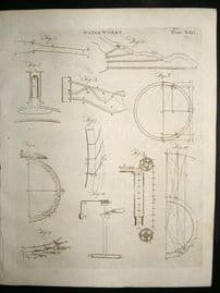 Science Prints, 1795: Water Works, set of 2 antique prints