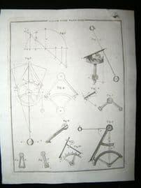 Science & Tech C1790 Antique Print. Horology, Watcch Work 48