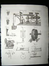 Science & Tech C1790 Antique Print. Mechanics 285