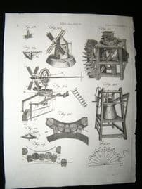 Science & Tech C1790 Antique Print. Mechanics 289