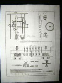Science & Tech C1790 Antique Print. Oil Mill 39