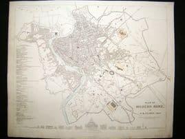 SDUK 1830's Antique Map. City Plan of Modern Rome. Italy