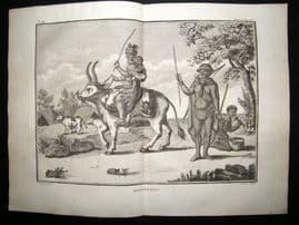 Sonnerat Africa 1782 Folio Antique Print. Hottentots
