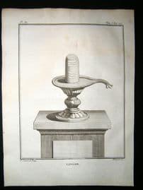 Sonnerat India 1782 Antique Print. Lingam