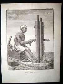 Sonnerat India 1782 Antique Print. Scieur de Bois