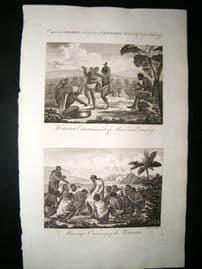 South Africa C1790 Folio Antique Print. Hottentots