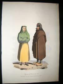 Spain 1809 Folio Hand Col Aquatint. Peasants of the Corregimiento of Toro