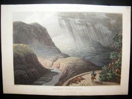 Spain 1809 Folio Hand Col Aquatint. View between Constantin & Nogales