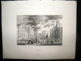 Spain 1847 Antique Print. Barcelona