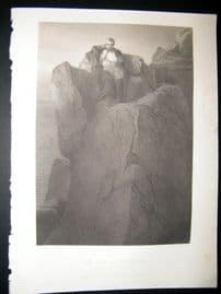 St. Helena 1860 Antique Print. The Rock, Art Journal